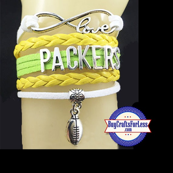 GREEN BAY Leather Bracelet - U Choose CHaRM +FREE Shipping & Discounts*