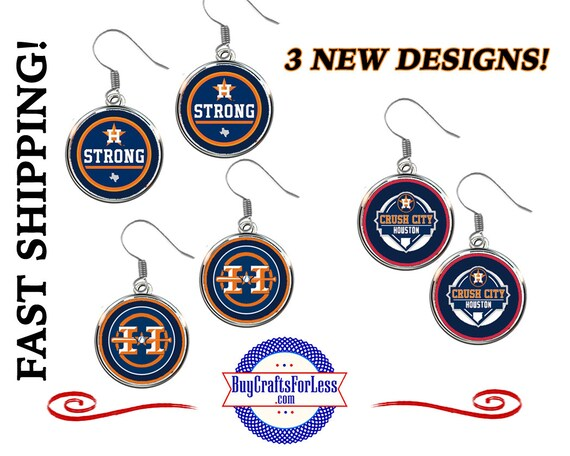 HOUSTON Baseball EARRINGS, 3 NEW Designs - Super CuTE!  +FReE SHiPPiNG & Discounts*