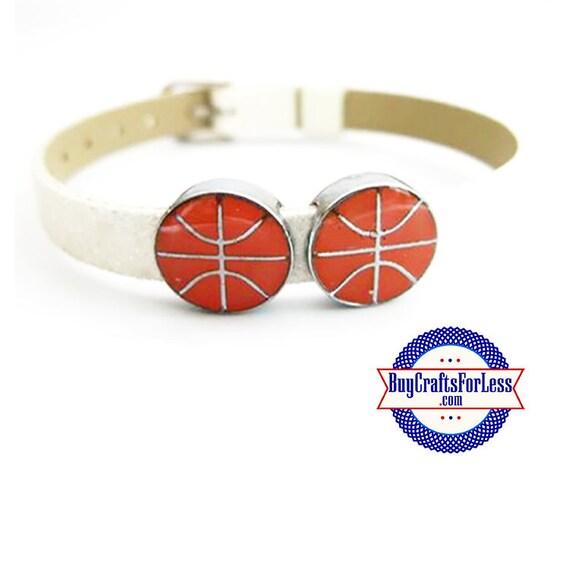 BASKETBALL for 8mm Slide Bracelet, Collars, Napkin Rings, Key Rings +FREE Shipping & Discounts*