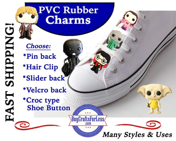PVC Charms, Harry Potter* 20% OFF Any 4 PvC Charms+ShipFREE *Choose back-Button, Pin, Slider, Hair Clip, Velcro, Magnet