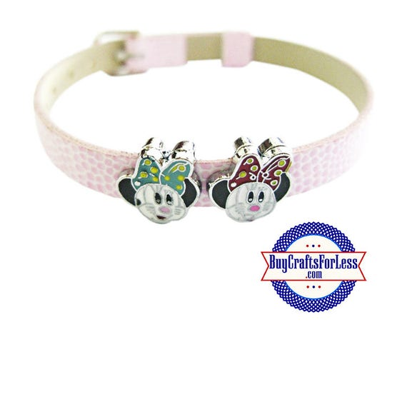 MOUSE Minnie Head for 8mm Bracelets, Collars, Key Rings, 5 Colors +FREE Shipping & Discounts*