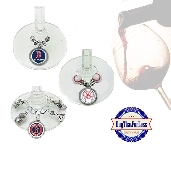 BOSTON Wine or Bottle Charms, Napkin Rings, Set of 6, U Choose Style  +FREE SHiPPiNG & Discounts*