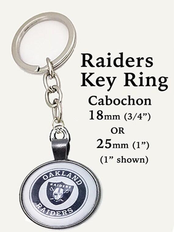 Raiders Key Ring - 2 sizes -ALL TEAMS **FREE Shipping**