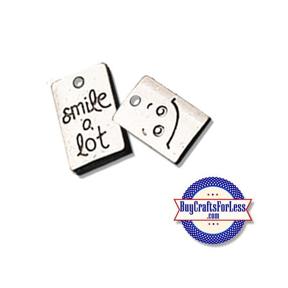 """SMILE Charms, """"Smile A Lot"""", 6, 12, 24 pcs +FREE SHiPPing & Discounts*"""