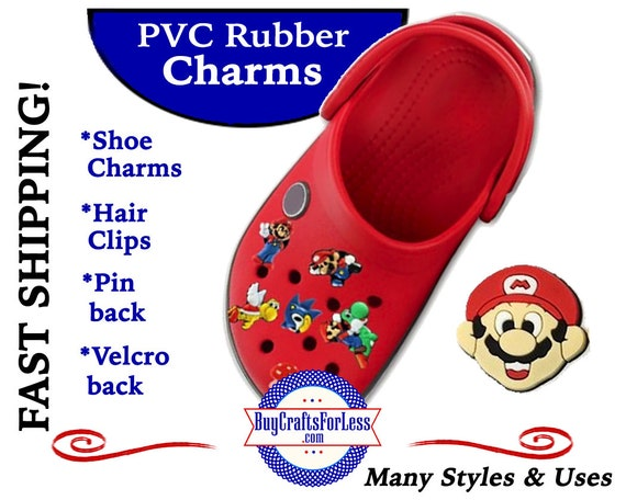 PVC Charms, Super MARIO * 20% OFF Any 4 PvC Charms+ShipFREE *Choose back-Button, Pin, Slider, Hair Clip, Velcro, Magnet