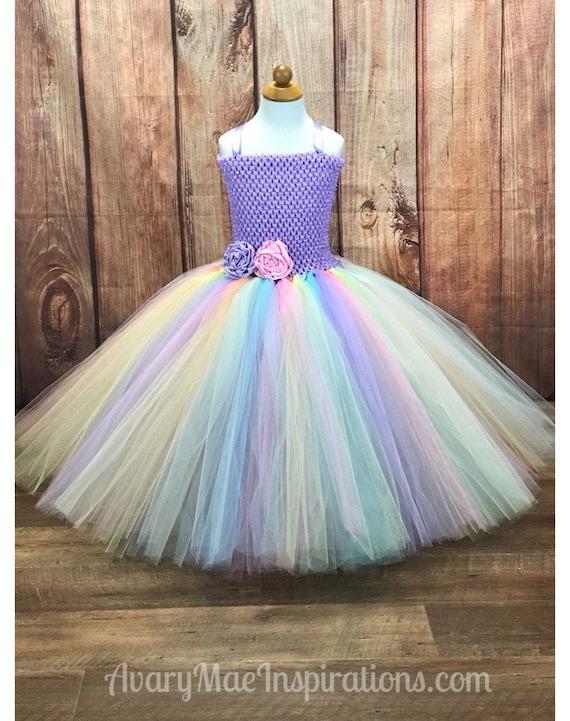 Unicorn Rainbow  Dress Tutu Dress Unicorn Tulle Dress .