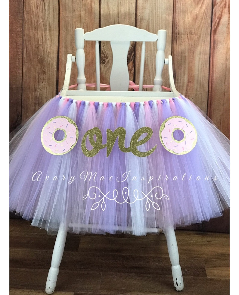 Donut High Chair Tutu for Girls First Birthday Donut First image 0