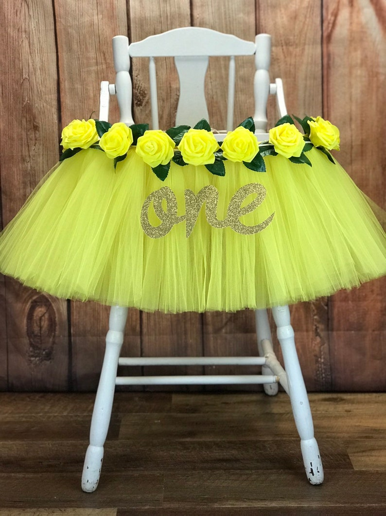 First Birthday High Chair Tutu Highchair Tutu Banner You are image 0