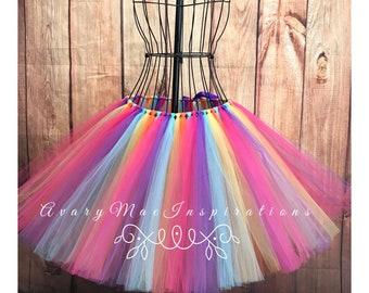 Fiesta Ladies Tulle Tutu, Ladies Tulle Tutu, Woman's Tulle Tutu, Ladies Tutu Skirt, Adult Tutu, Adult Tutu Any Color/ Size upon Request,