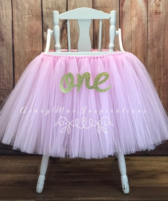 Astounding Pink High Chair Tutu Highchair Banner For Girls First Birthday Smash Cake Party Pink And Gold High Chair Cover Any Color You Chose Bralicious Painted Fabric Chair Ideas Braliciousco