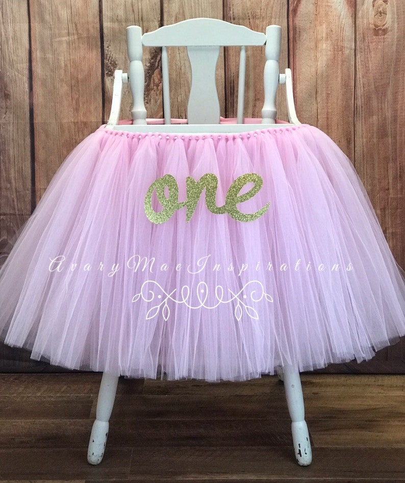 48c73389c Pink High Chair Tutu Highchair Banner for Girls First | Etsy
