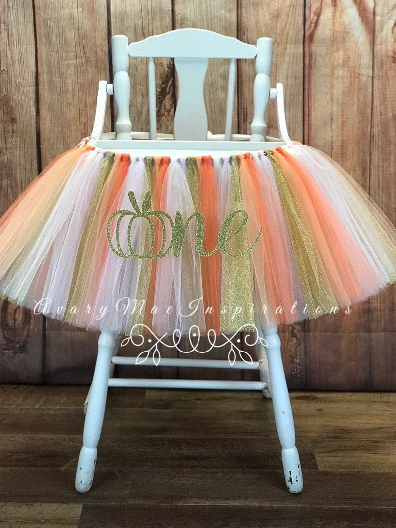 Our Little Pumpkin High Chair Tutu ANY COLORS Our Little image 0