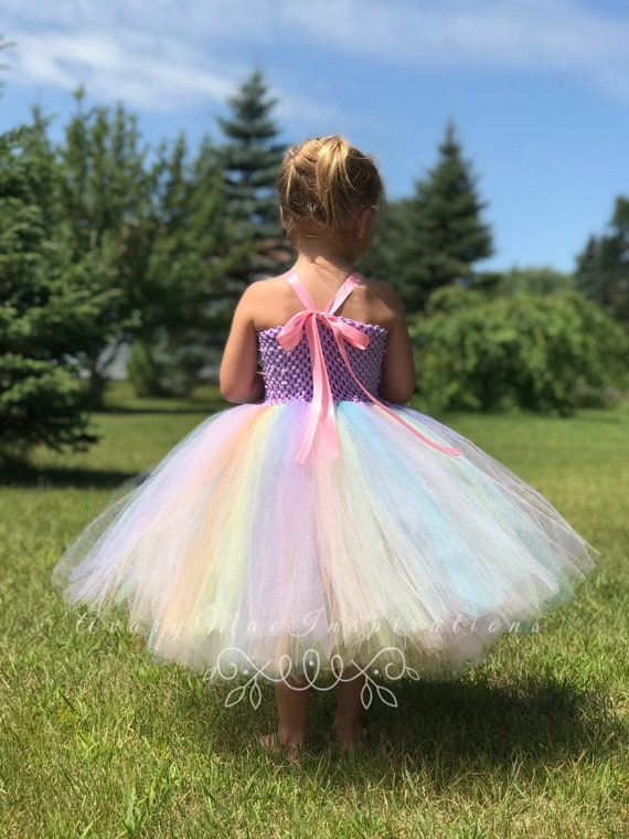 Princess Cinderella Toddler 1st Birthday Flower Girl Light Blue Birthday Outfit Copenhagen Blue Girls Tulle Tutu Dress Wedding Party