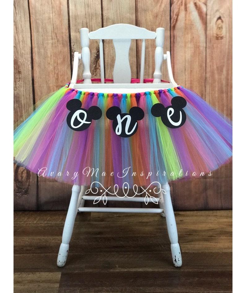 High Chair Tutu Girls 1st Birthday Highchair Banner First image 0