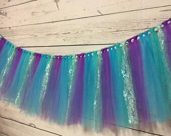 Tulle Table Skirt-Little Mermaid Table Skirt- Tulle Table  Skirt- Tulle Tutu Table Skirt- Mermaid Party Table Skirt- Will Custom Make