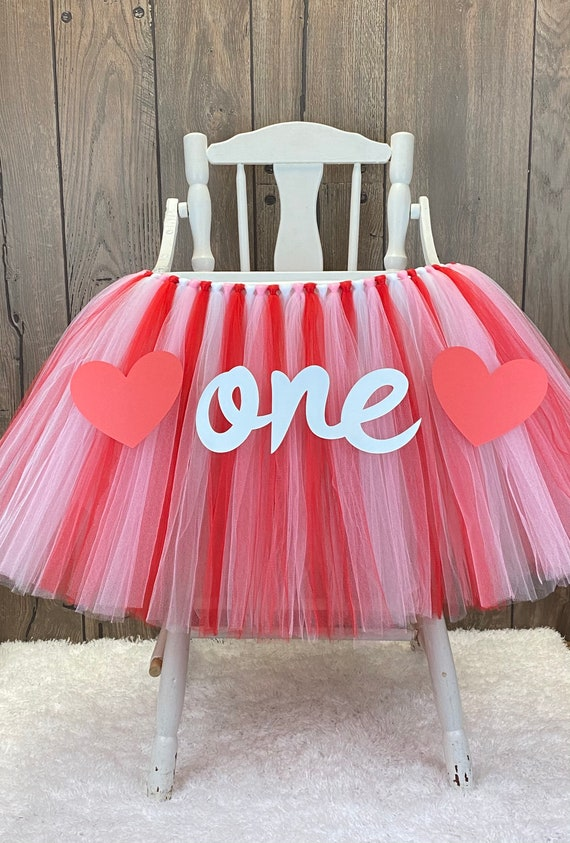 WAOUH Tutu Highchair Decoration for 1st Birthday First Birthday Party for Girl,Baby Cake Smash And Photo Props,Princesss Best Party Gift(ONE Pink Tutu)
