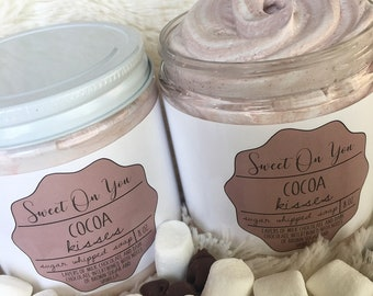Cocoa Kisses, Chocolate Sugar Whipped Soap, Emusified Sugar Scrub, Whipped Soap, Fluffy Soap, Soap, Sugar Scrub, Exfoliate