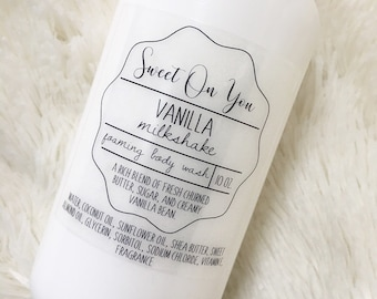 Vanilla Milkshake, Foaming Body Wash, Soap, Liquid Soap, Bath wash, Bath and Body, Dessert Beauty, Skin Care, Beauty, Moisturizer, Soap