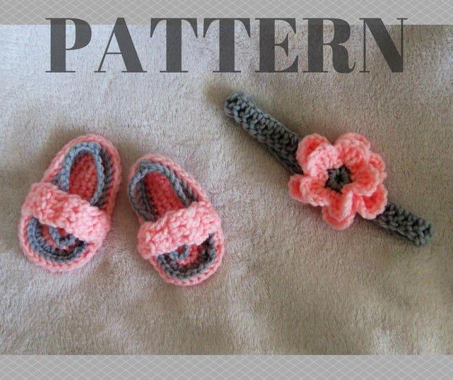 Häkelanleitung flip Flops Muster / Blume Stirnband Muster   Etsy