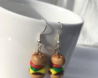Cheeseburger Earrings