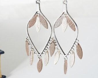 GENUINE leather drop dangle earrings