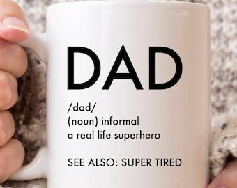 Funny Dad Mug from Daughter, Funny Dad Gift from Son, Funny Dad Coffee Mug, Dad Is My Superhero, Dad Hero Mug, Funny Father's Day Mug