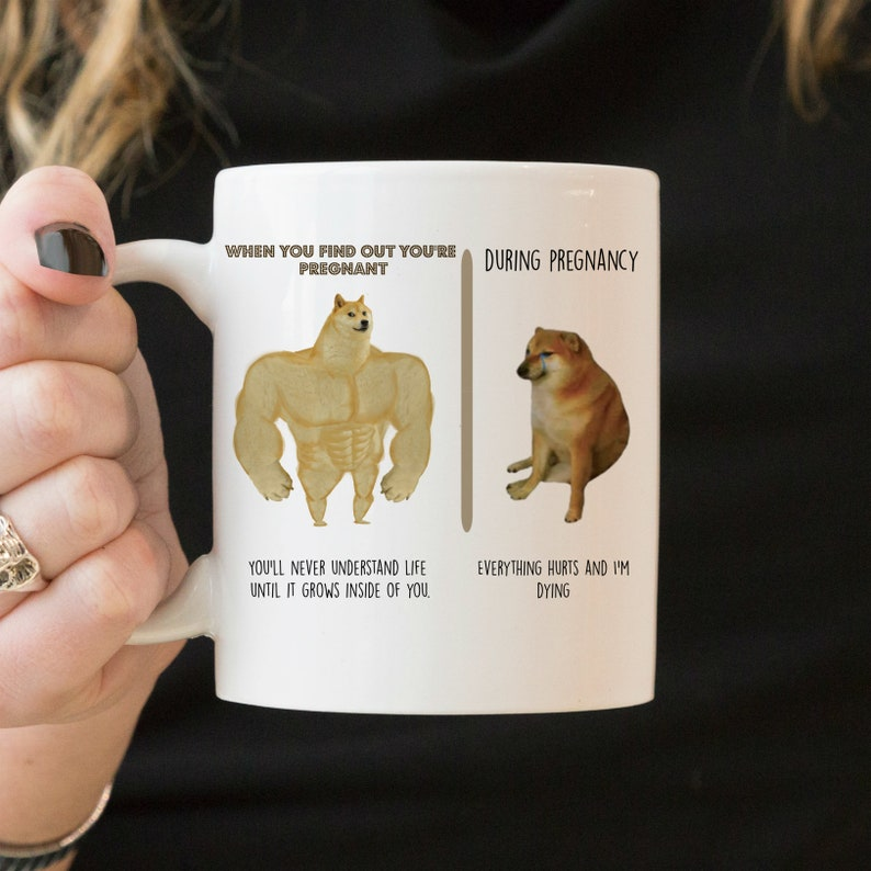 Funny Pregnancy Mug Doge Mom Gift First Time Mom Meme ...