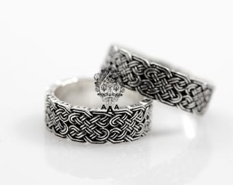 Celtic Knot Ring,Celtic Ring,Celtic Wedding Rings,Viking Jewelry,Sterling  Silver 925 Black Oxidize.