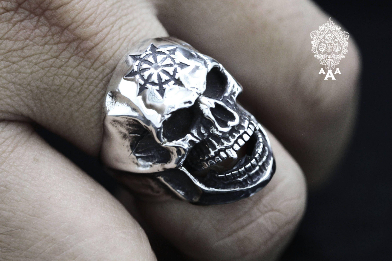 Skull ringSymbol of Chaos Skull RingSymbol of Chaos | Etsy