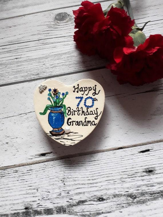 Birthday Gift For Grandma 70th Pebble Magnet