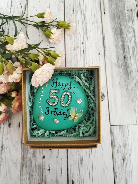 50th Birthday Keepsake Gift For Her Ideas Mum Friend Daughter