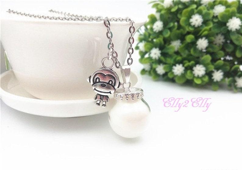 Glow in the DARK Breast Milk DIY Kit Breast Milk Jewelry Breast Milk Keepsake Little Monkey BM Necklace