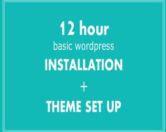 WORDPRESS THEME INSTALLATION for Premade Themes/Templates - Add on to Premade Divi Child Themes made for Bloggers & Business owners