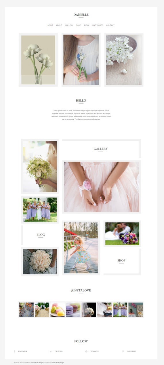 Wordpress Theme Template Wedding Template Divi Theme Etsy