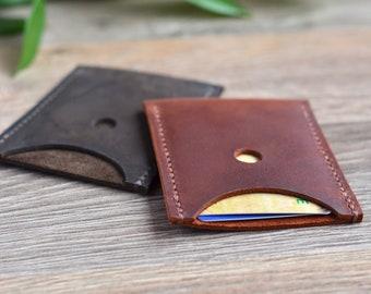 Card Holder Business Card holder Leather Card holder Business Card Case Slim Cardholder Brown Card holder Credit Card Wallet Slim Cardholder
