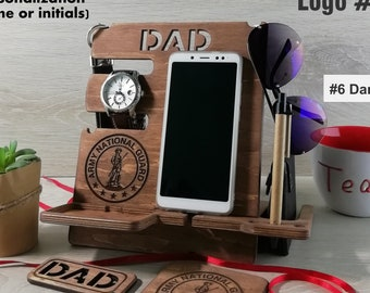 Army National Guard Gift Wood Docking Station