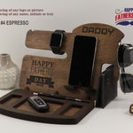 Mens birthday gift - Fathers day gift - Personalized Docking Station - Gift for Men, Gift for Dad, Gift for boyfriend, Gift for Husband
