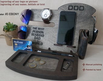 Personalized gift for dad, docking station, gift for him, gift husband, gift for husband, boyfriend gift, gift for men, anniversary gift