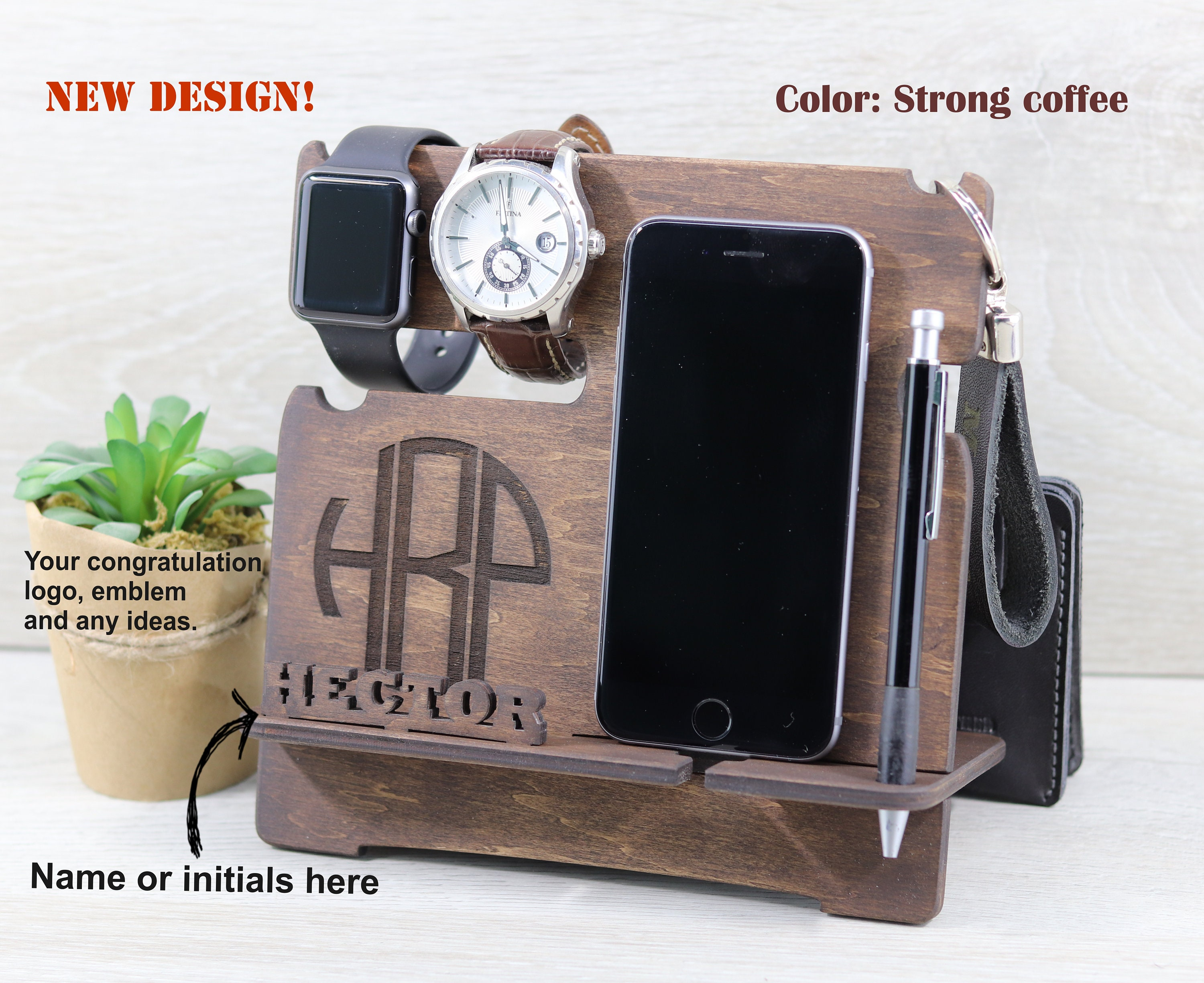 Wood Phone Stand 21st Birthday Gift Boyfriend Best Man