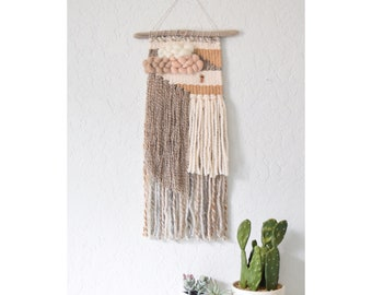 Made to Order- Wall Weave | Handwoven Tapestry | Woven Wall Hanging | Woven Wall Art - nursery decor, yarn wall hanging, neutral boho brown