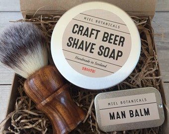 Craft Beer Shaving Soap and Balm Gift Set
