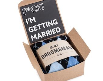 Bridal Party Gift Box, Groomsmen Gift Label and Socks, Groomsman Tie Gift Box, Nip & Shot Glass Gift Box, Groomsmen Gift Socks with Gift Box