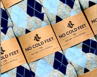 Blue Groomsmen Argyle Socks Multi Pack, Blue Argyle Socks for Wedding, Groomsmen Gift Black Socks, Groom Wedding Socks