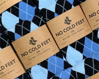 Black and Blue Groomsmen Socks Multi Pack, Blue Argyle Socks for Wedding, Groomsmen Gift Black Argyle Socks, Wedding Socks Groom Socks