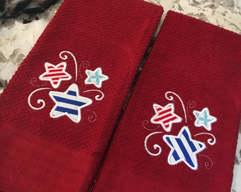 Fourth of July Set of 2 Kitchen Towels