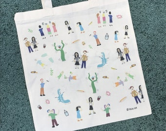 People you meet at festivals tote bag