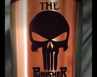 The Punisher Decal-Yeti Tumbler-Marvel Comics