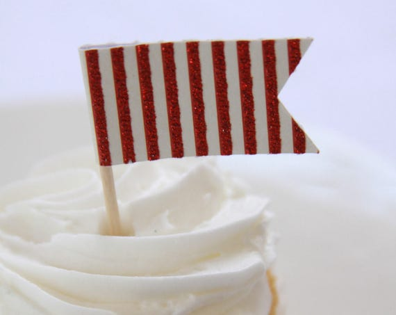 30th Birthday Party Ideas, Christmas Toppers, Hot Chocolate Bar Decor, Red and White Stripe