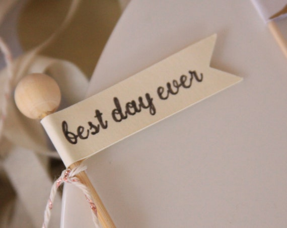 Best Day Ever Topper, Engagement Party Ideas, Wedding Cupcake Decorations, Wedding Quotes