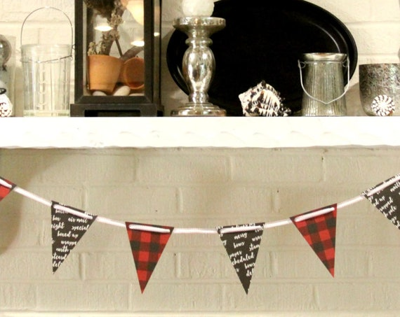 Lumberjack Christmas Banner, Buffalo Plaid Christmas, Little Lumberjack, Hot Chocolate Bar Banner